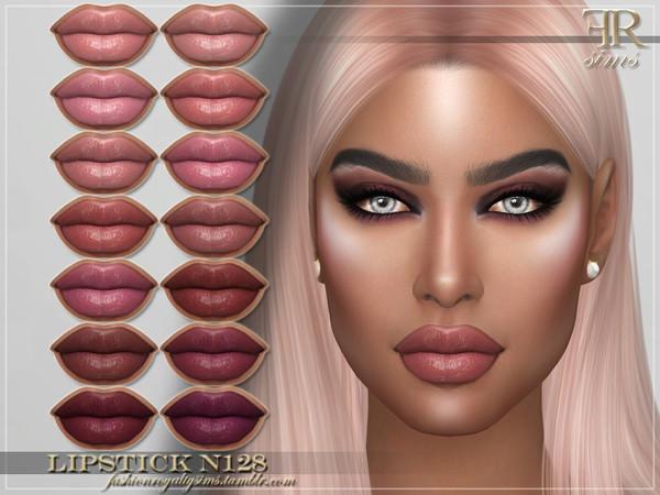 Sims 4 FRS Lipstick N128 by FashionRoyaltySims at TSR