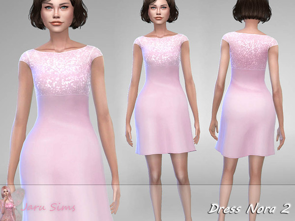 Dress Nora 2 by Jaru Sims at TSR image 1716 Sims 4 Updates