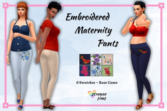 Maternity Tunics and Embroidered Pants at Strenee Sims image 17215 670x447 Sims 4 Updates