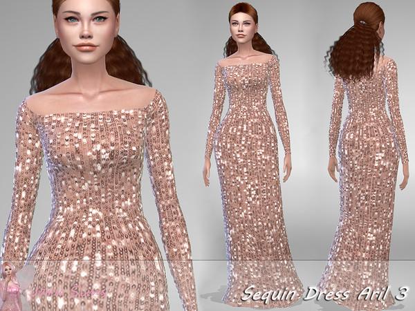 Sims 4 Sequin Dress Aril 3 by Jaru Sims at TSR