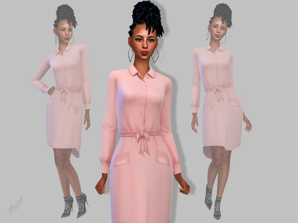 Ladies Jacket Dress by pizazz at TSR image 1730 Sims 4 Updates
