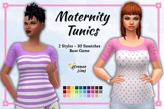 Maternity Tunics and Embroidered Pants at Strenee Sims image 17313 670x447 Sims 4 Updates
