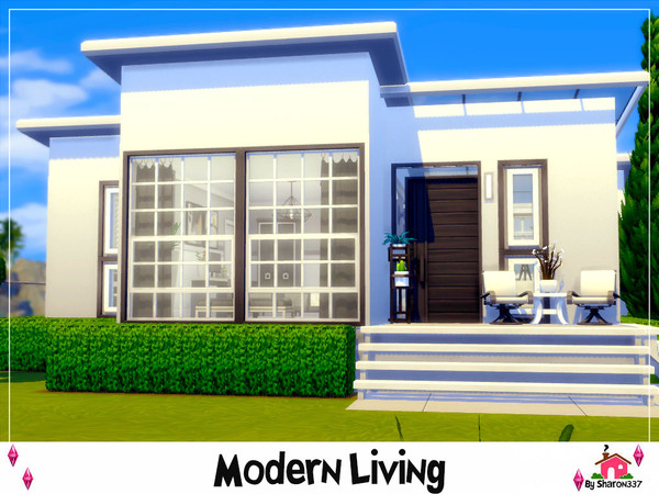 Sims 4 Modern Living house Nocc by sharon337 at TSR