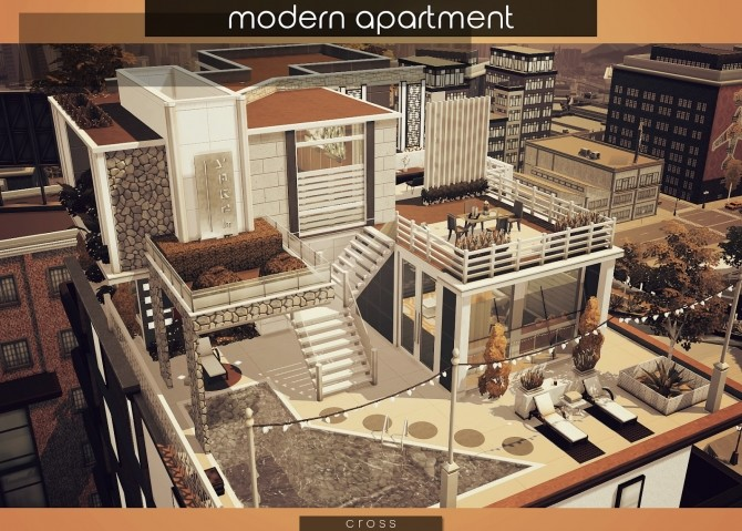 Modern Apartment by Praline at Cross Design image 1765 670x479 Sims 4 Updates
