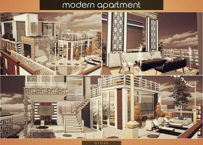 Modern Apartment by Praline at Cross Design image 1775 670x479 Sims 4 Updates