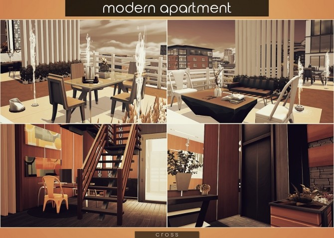 Modern Apartment by Praline at Cross Design image 1785 670x479 Sims 4 Updates