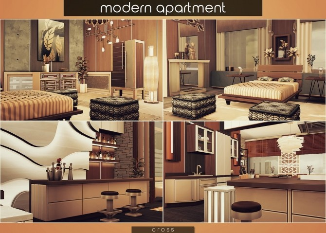 Modern Apartment by Praline at Cross Design image 1795 670x479 Sims 4 Updates