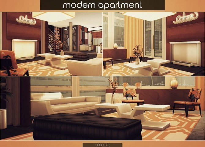 Modern Apartment by Praline at Cross Design image 1805 670x479 Sims 4 Updates