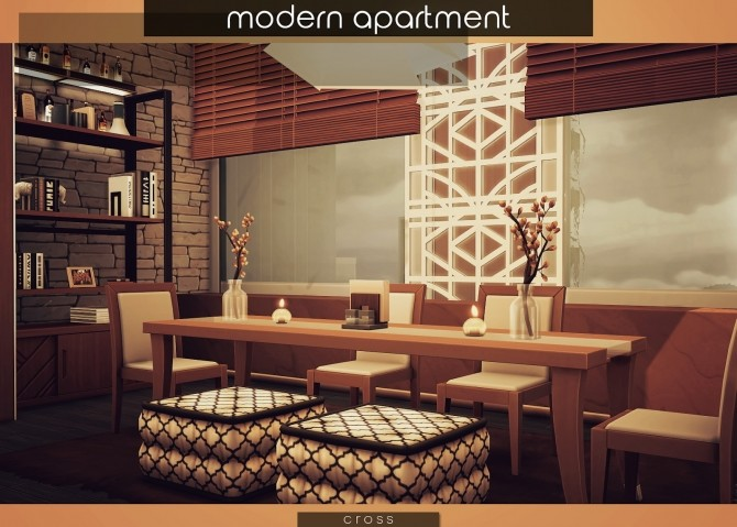 Modern Apartment by Praline at Cross Design image 18110 670x479 Sims 4 Updates