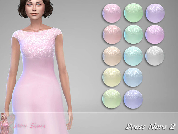 Dress Nora 2 by Jaru Sims at TSR image 1816 Sims 4 Updates