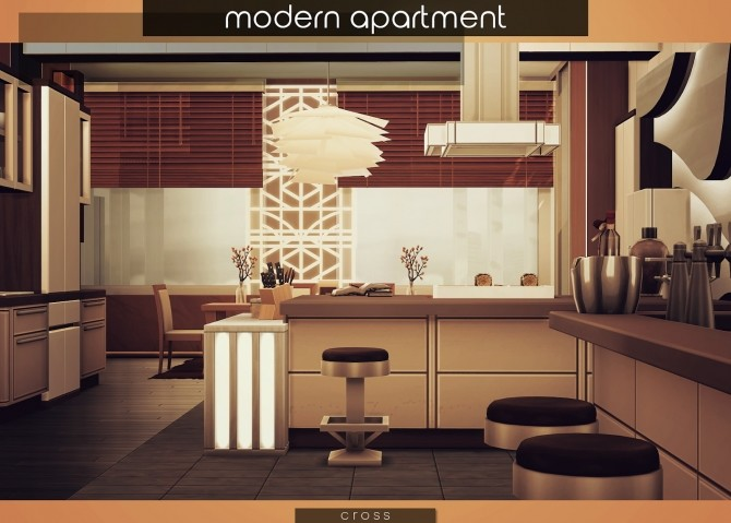 Modern Apartment by Praline at Cross Design image 1823 670x479 Sims 4 Updates