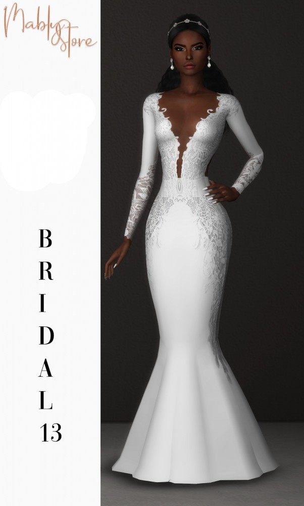 BRIDAL 13 dress at Mably Store image 1833 602x1000 Sims 4 Updates