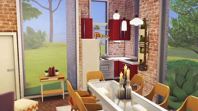 Sims 4 Tiny Living Home for 8 Sims at Miss Ruby Bird