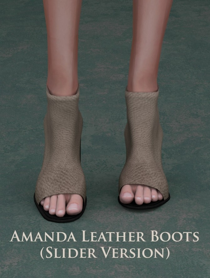 Amanda Leather Boots (slider version) at Astya96 image 1871 670x888 Sims 4 Updates