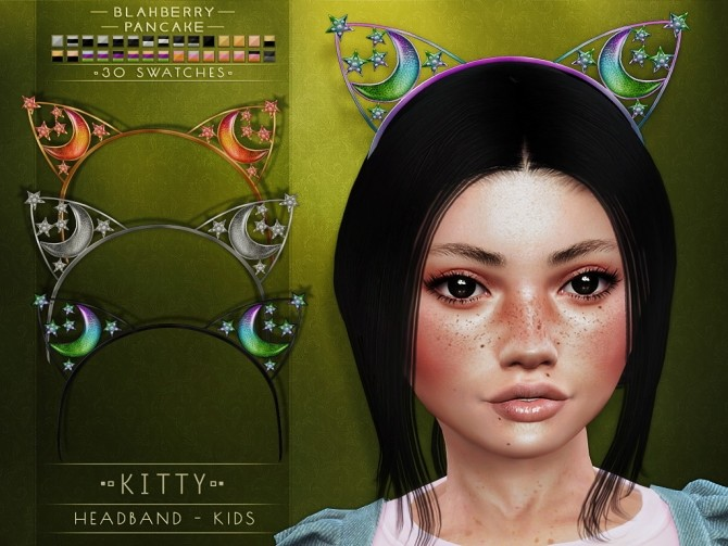 Kitty & rein headbands for kids at Blahberry Pancake image 1899 670x503 Sims 4 Updates
