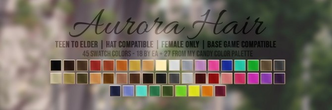 AURORA HAIR + HEADBAND ACC at Candy Sims 4 image 1901 670x223 Sims 4 Updates