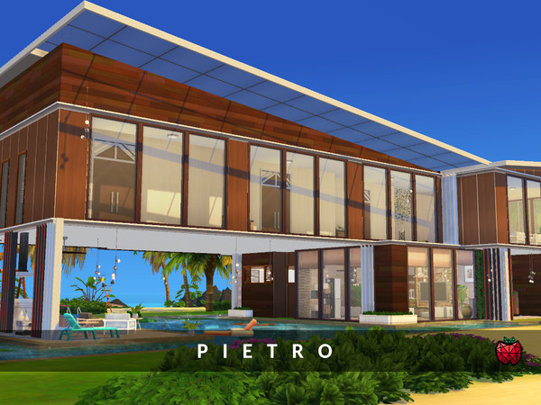 Sims 4 Pietro house by melapples at TSR