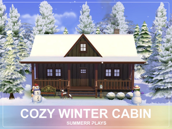 Cozy Winter Cabin by Summerr Plays at TSR image 193 Sims 4 Updates