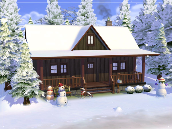 Sims 4 Cozy Winter Cabin by Summerr Plays at TSR