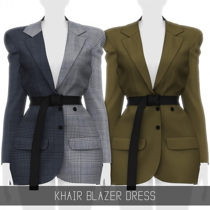 Sims 4 KHAIR BLAZER DRESS at Simpliciaty