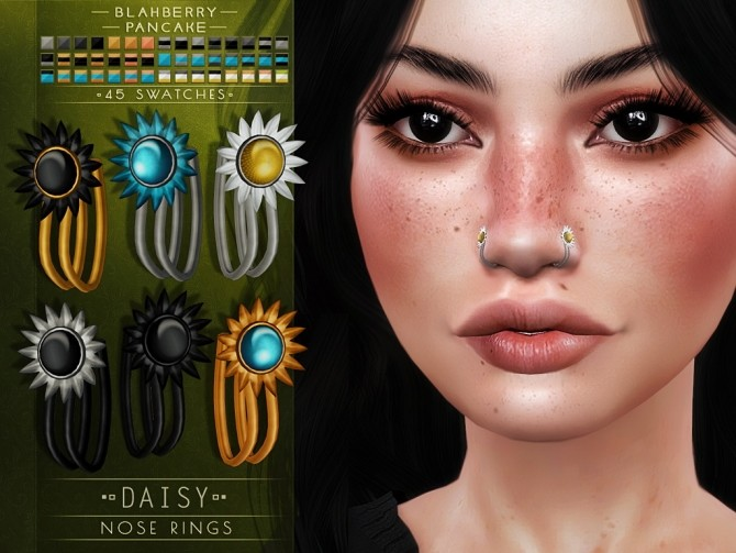Daisy nose ring at Blahberry Pancake image 1945 670x503 Sims 4 Updates