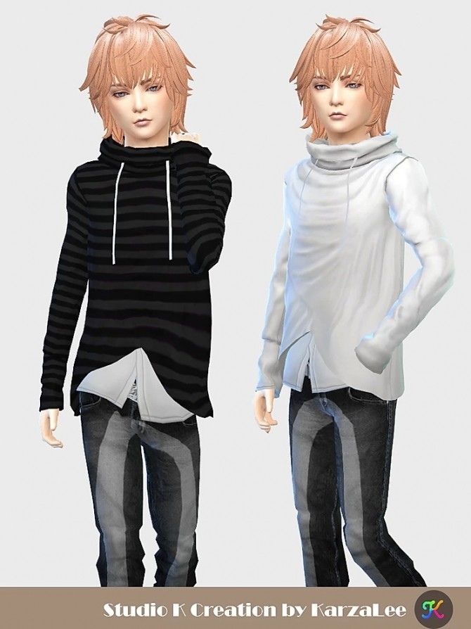 Giruto 81 high neck top for boys at Studio K Creation image 1954 670x894 Sims 4 Updates