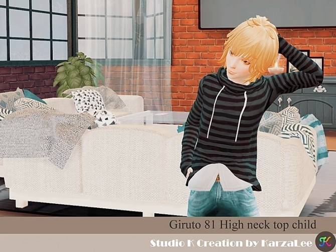Sims 4 Giruto 81 high neck top for boys at Studio K Creation