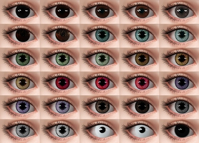 Sims 4 Butterfly effect eyes + Temza 2D Lash DUALITY Version at Praline Sims