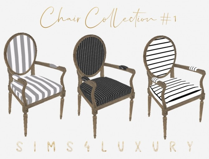 Sims 4 Chair Collection #1 at Sims4 Luxury