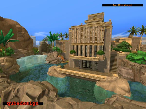 Sims 4 La Minitaur house by QubeDesign at TSR