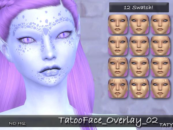 Tatoo Face Overlay 02 by tatygagg at TSR image 2020 Sims 4 Updates