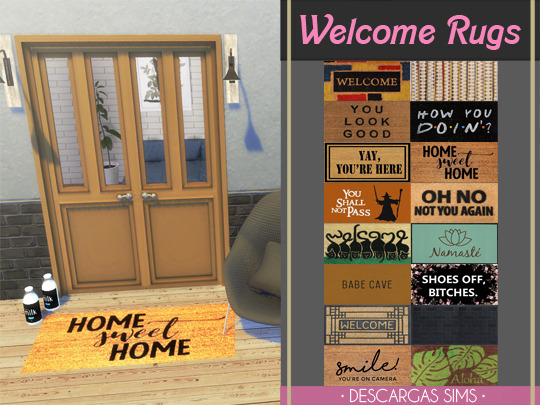 Sims 4 Welcome Rugs at Descargas Sims