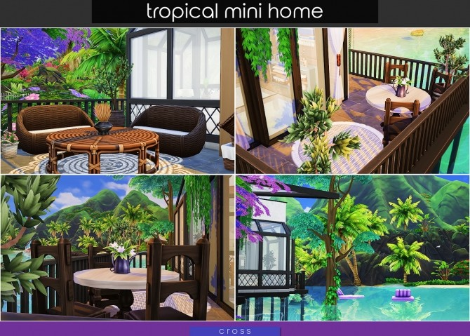 Tropical Mini Home by Praline at Cross Design image 2033 670x479 Sims 4 Updates