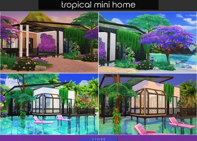 Tropical Mini Home by Praline at Cross Design image 2043 670x479 Sims 4 Updates