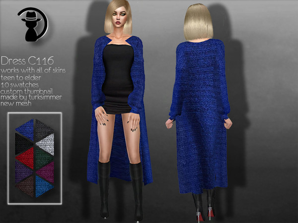Dress C116 by turksimmer at TSR image 208 Sims 4 Updates
