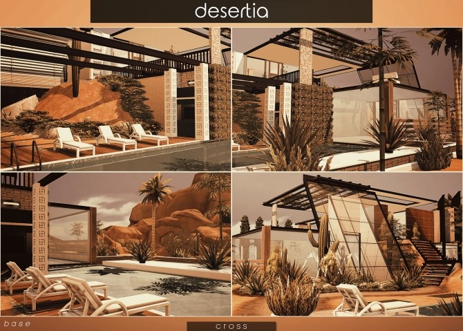 Sims 4 Desertia house by Praline at Cross Design