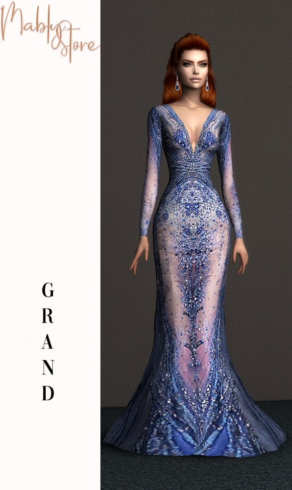 GRAN GOWN at Mably Store image 2087 596x1000 Sims 4 Updates