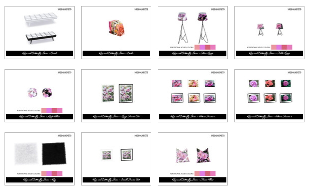 Rose and Butterfly Decor Collection by neinahpets at TSR image 2129 Sims 4 Updates