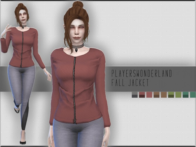 Sims 4 Fall Jacket at PW's Creations