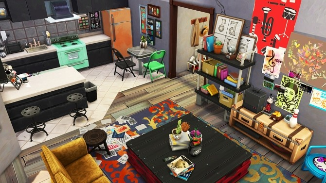 Sims 4 RUNAWAY TEENS APARTMENT at Aveline Sims