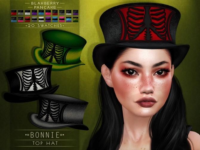 Sims 4 Bonnie top hat at Blahberry Pancake