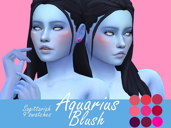Sims 4 Aquarius Blush by Sagittariah at TSR