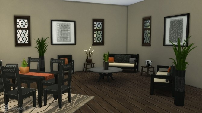 Sims 4 African Living Room at Sims 4 Diversity Project