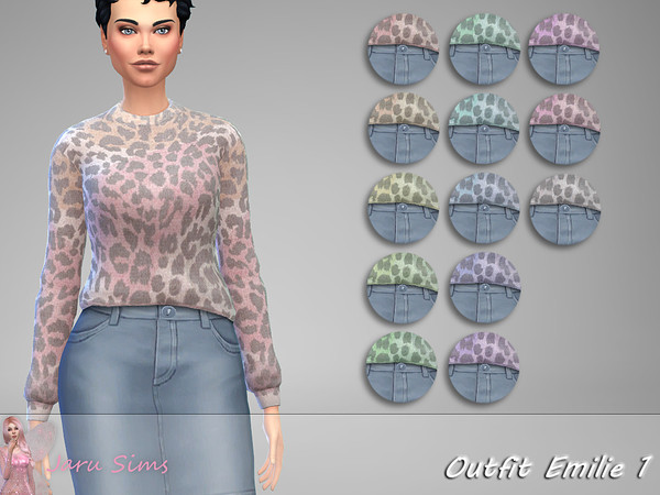 Sims 4 Outfit Emilie 1 by Jaru Sims at TSR