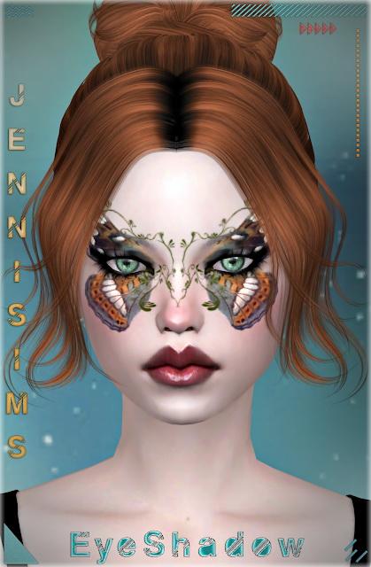 Sims 4 Butterfly Garden eyeshadows at Jenni Sims