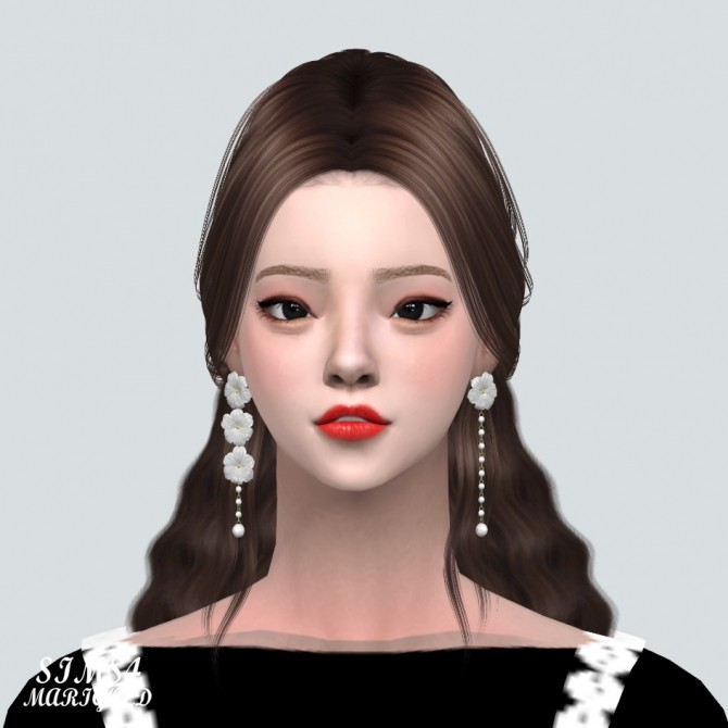 Sims 4 Unbalance Flower Pearl Earrings at Marigold