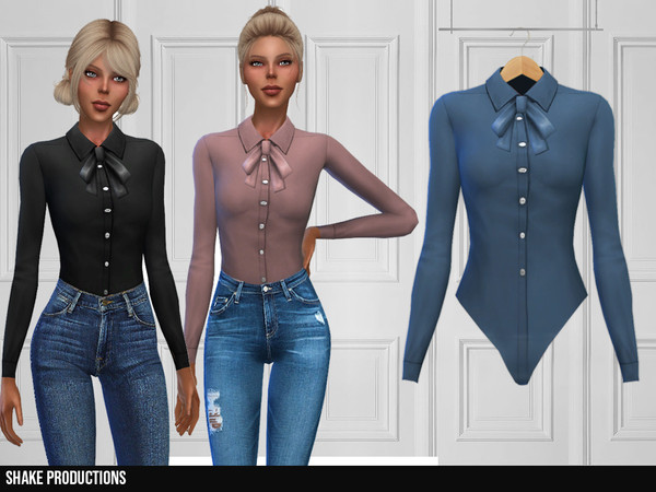 Sims 4 358 Blouse by ShakeProductions at TSR