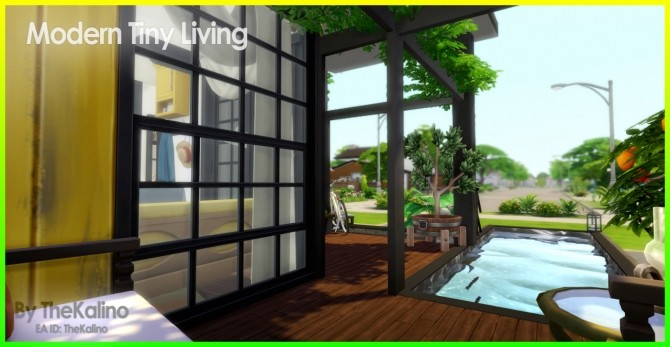 Sims 4 Modern Tiny Living Home at Kalino