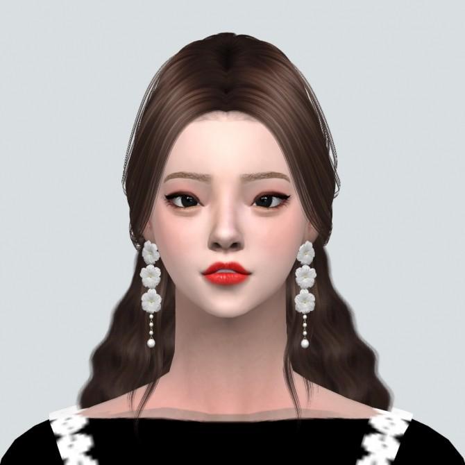Sims 4 Elegance 3 Flower Pearl Earrings at Marigold
