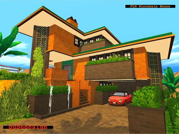 Sims 4 Wisconsin House by QubeDesign at TSR
